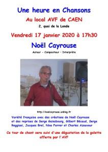 Affiche AVF Noël Cayrouse